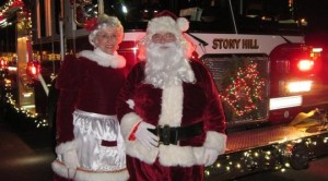 Santa & Mrs. Claus. Photo credit: Stony Hill Four Corners Association.